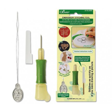 punch needle clover embroidery stitching tool