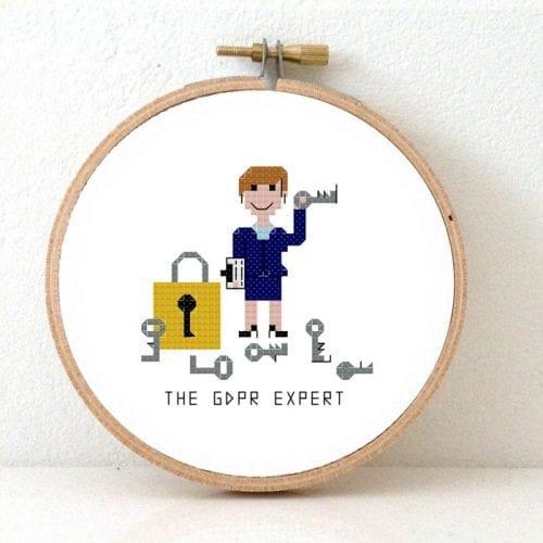 privacy officer cross stitch pattern