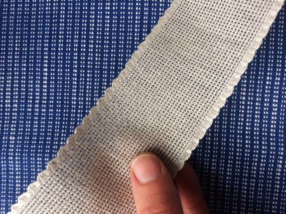 5 cm wide Linen Aida Ribbon cross stitch fabric