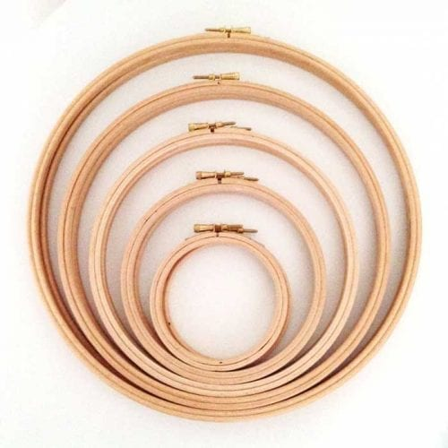 set 10 wooden embroidery hoops beech wooden hoops