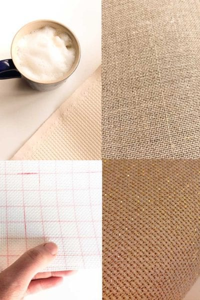 Tuturial what is the difference between aida evenweave and linen fabric