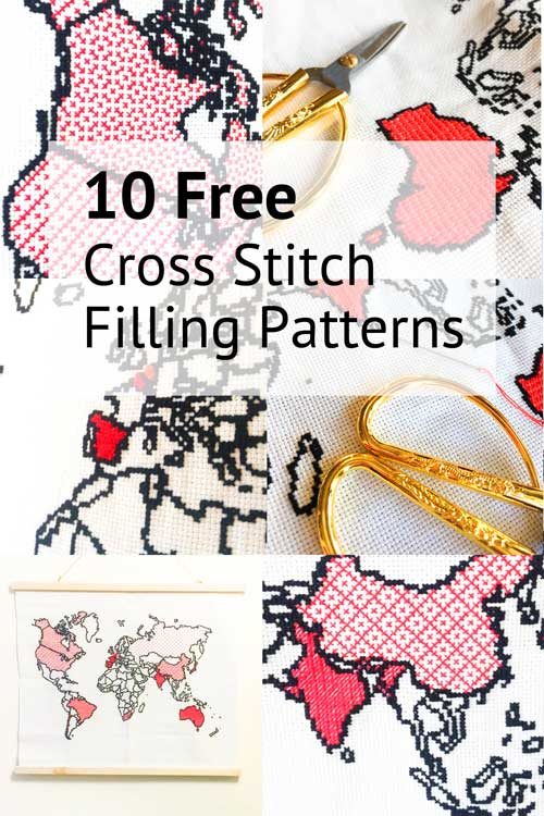 10 free cross stitch filling patterns