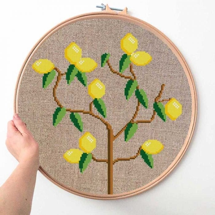 Lemon tree cross stitch kit extra large cross stitch kit lemon tree
