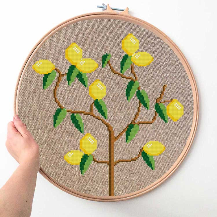 Lemon Tree Cross Stitch Kit