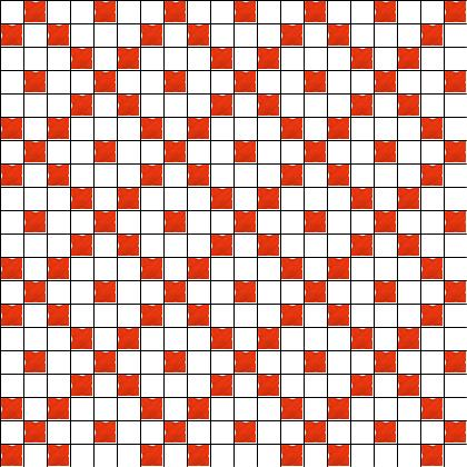 CROSS STITCH FILLING PATTERNS TURNED SQUARE RED