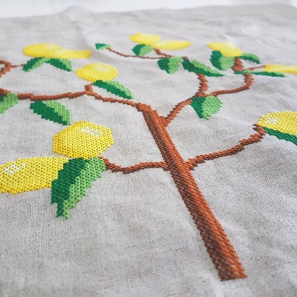Lemon-tree-cross stitch chart