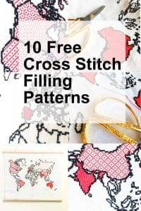 cross-stitch-filling-patterns world map cross stitch