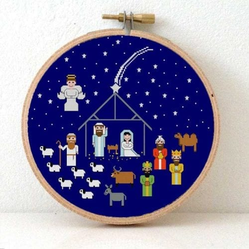 14614-Christmas nativity cross stitch kit