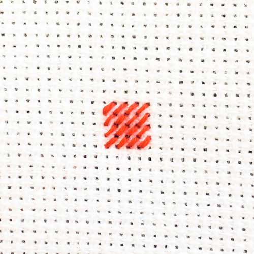 how to make a cross stitch