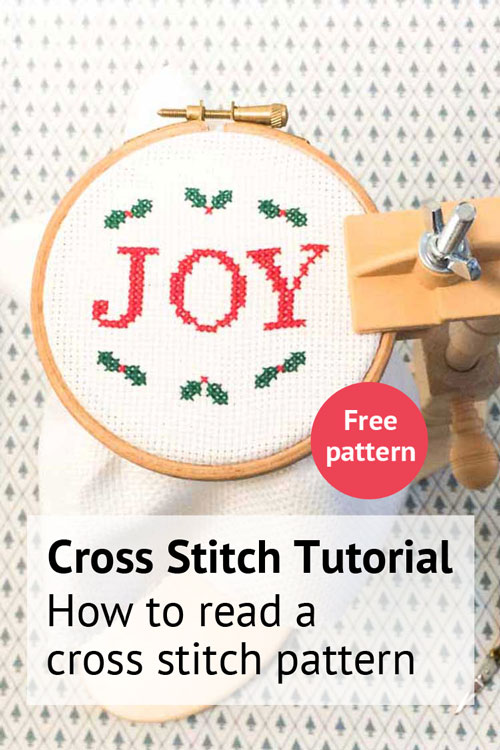 How to read a cross stitch pattern tutorial