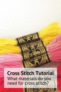 What materials do you need for cross stitch