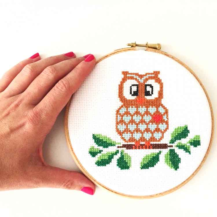 Owl Cross stitch kit