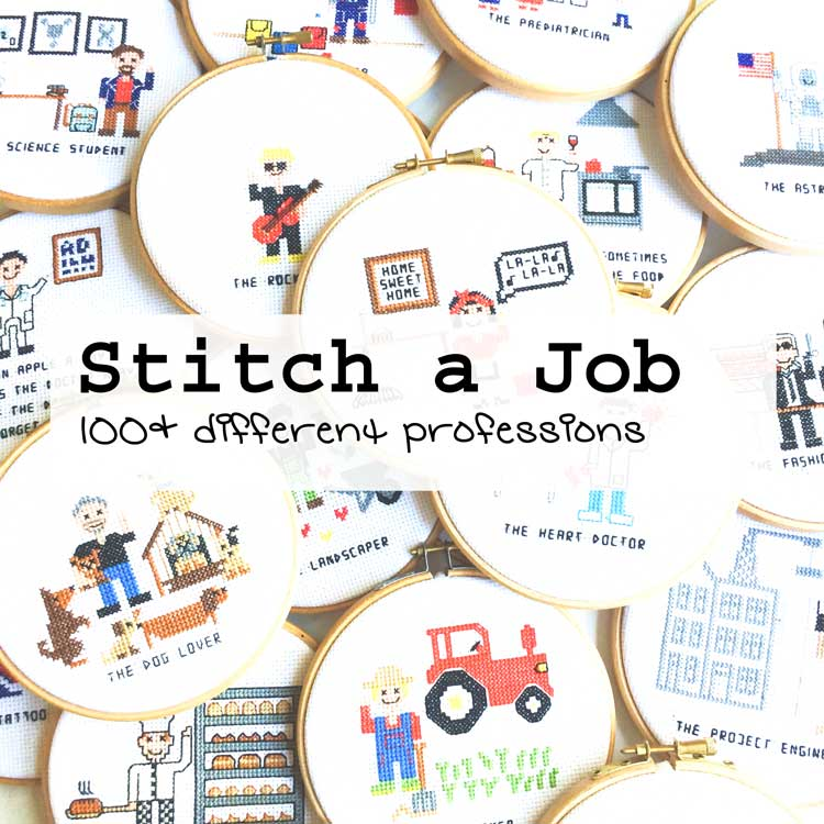 Stitch a job cross stitch patterns