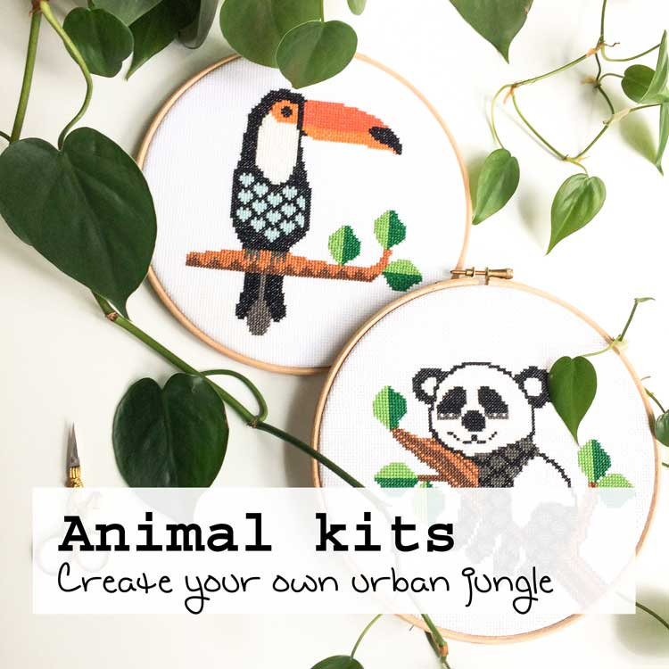 animal cross stitch kits