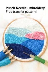 Free punch needle pattern