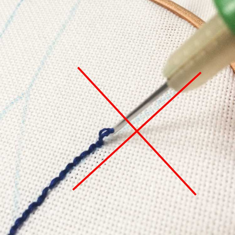 Help! My punch needle loops do not stay in my fabric