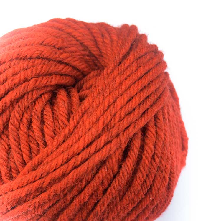 Gordita Red Ecological Wool for punch needle yarn