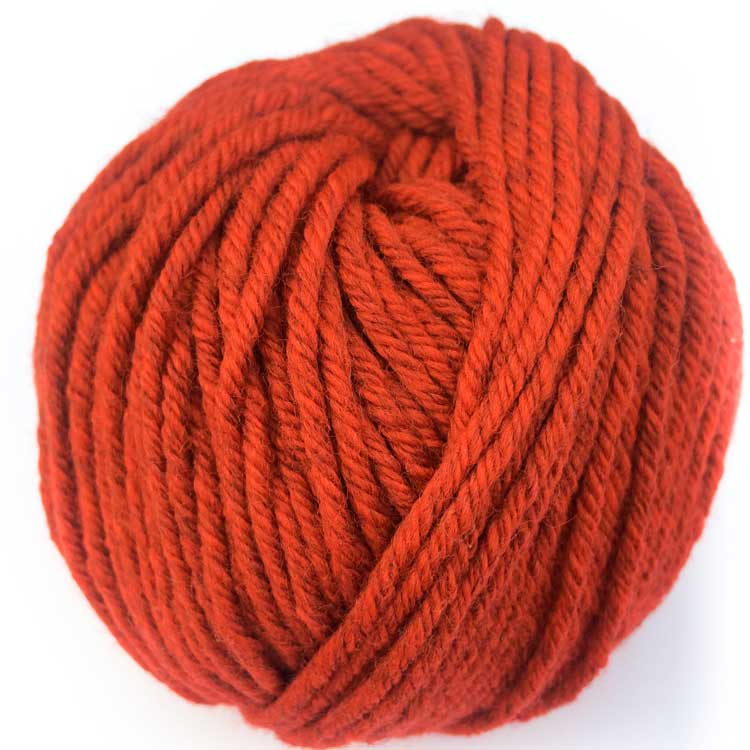 Gordita Red Eco merino Wool for punch needle yarn