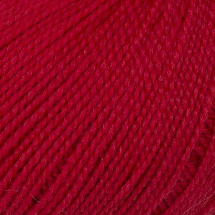 Lanita Fire Red Ecological Wool GOTS produced wool for punch needle embroidery