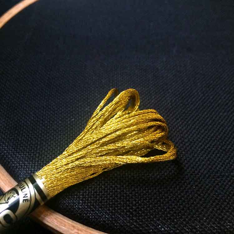 how to stitch with metallic embroidery floss