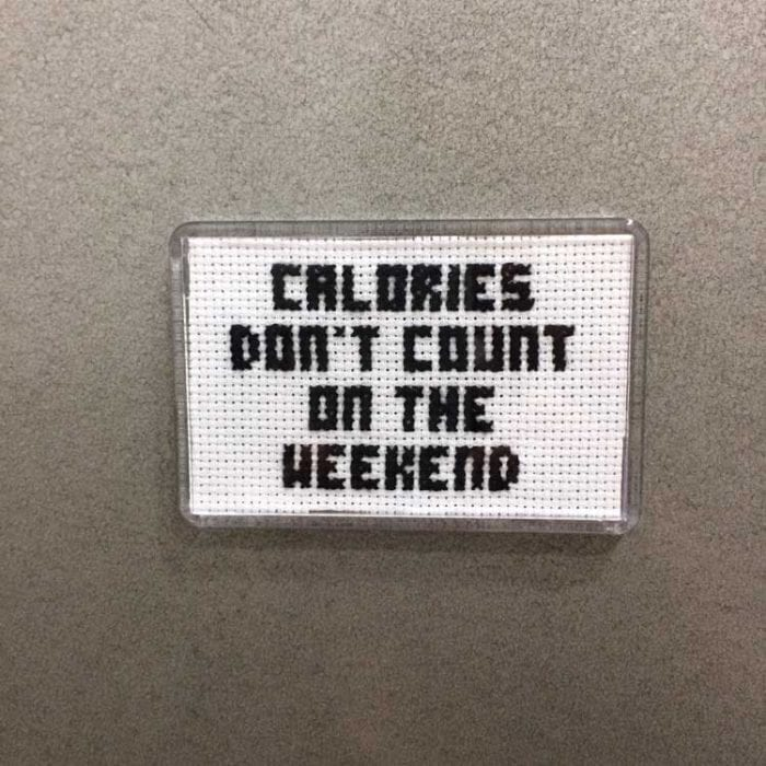 Fridge Magnet embroidery kit funny quote
