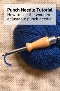 How to use the wooden adjustable punch needle tutorial