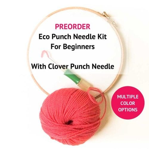 Starter eco punch needle kit for beginners
