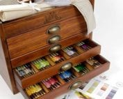DMC Mouline Wooden Storage Box with 500 skeins