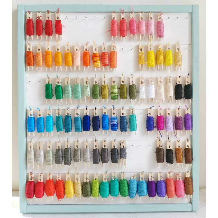 embroidery floss display idea