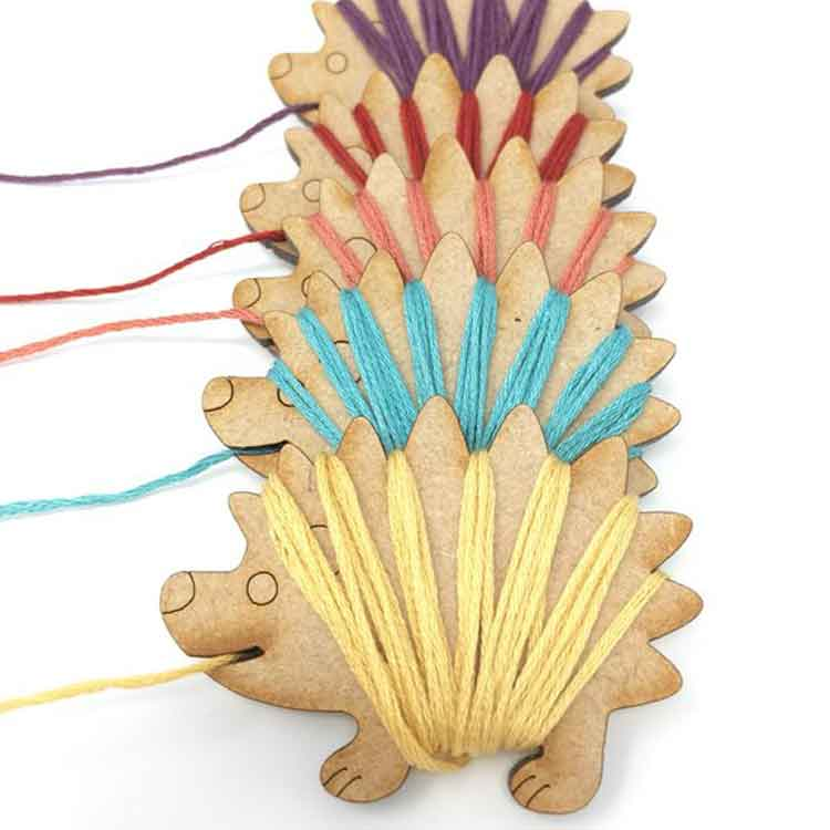 Embroidery floss bobbins
