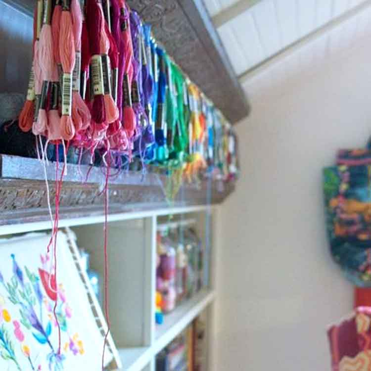embroidery floss display ideas