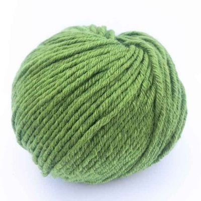 Gordita fern green ecological wool gots certified wool