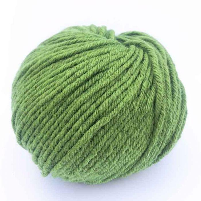 Gordita fern green ecological wool gots certified wool