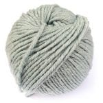 Light Blue Gray Gordita chunky Merino Wool GOTS yarn for punch needle embroidery