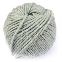 Light Blue Gray Gordita chunky Merino Wool GOTS yarn for punch needle embroidery