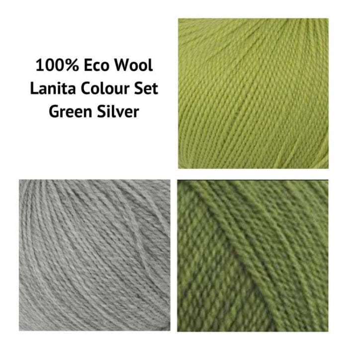 Green Silver Punch Needle Kit for beginners