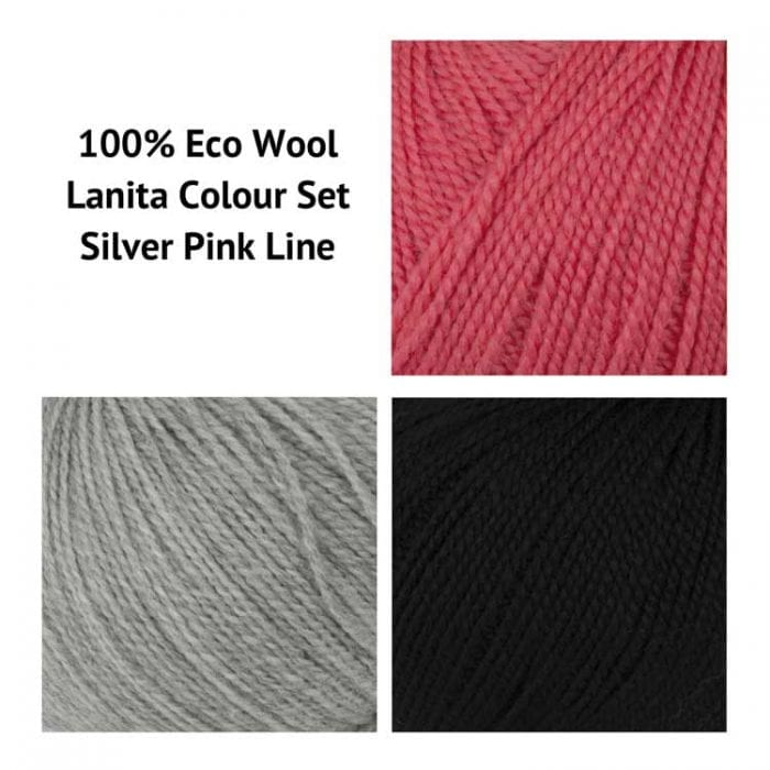 Silver Pink eco punch needle kit for beginners clover punch needle