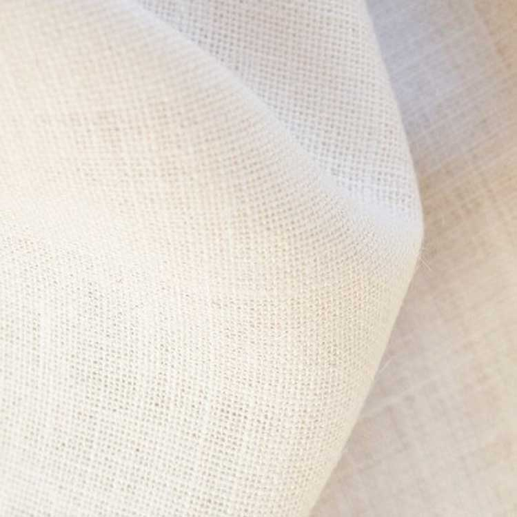 White Jute punch needle fabric