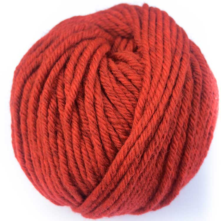 Red merino wool chunky ecological wool for punch needle embroidery