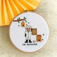 beekeeper cross stitch pattern