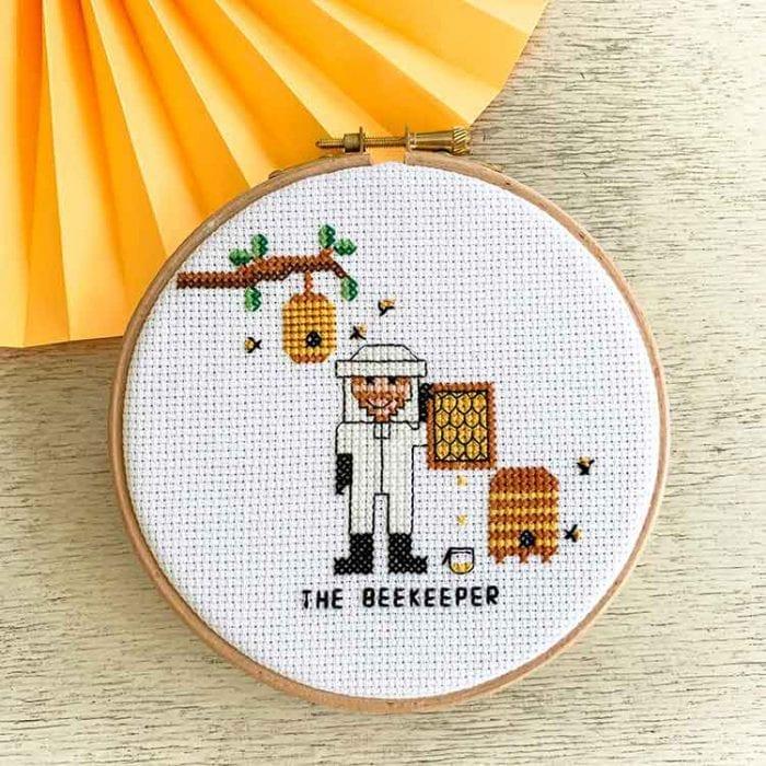 beekeeper cross stitch pattern