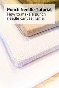 Blog how to make a punch needle canvas instructions step by step