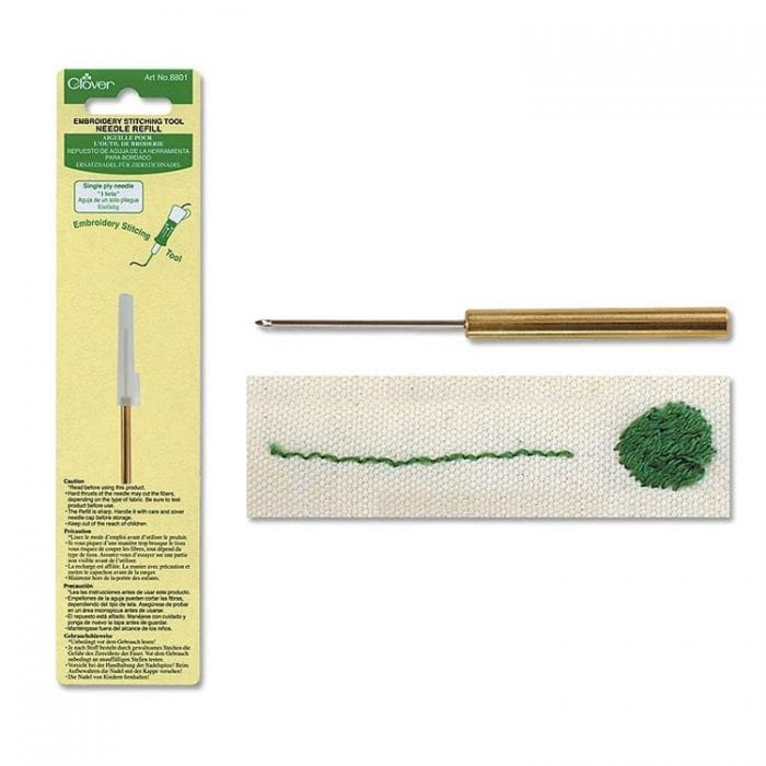 Clover Punch Needle refill 1 ply embroidery floss punch needle for fine details