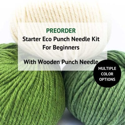 Pre Order eco Punch Needle Kits with premium ecological wool
