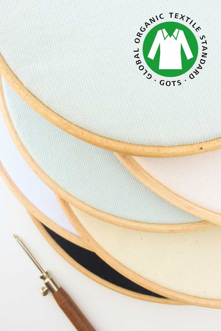 Gots certified punch needle canvas ecological punch needle supplies