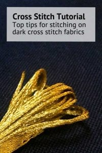 cross stitching on dark cross stitch fabrics blog instructions