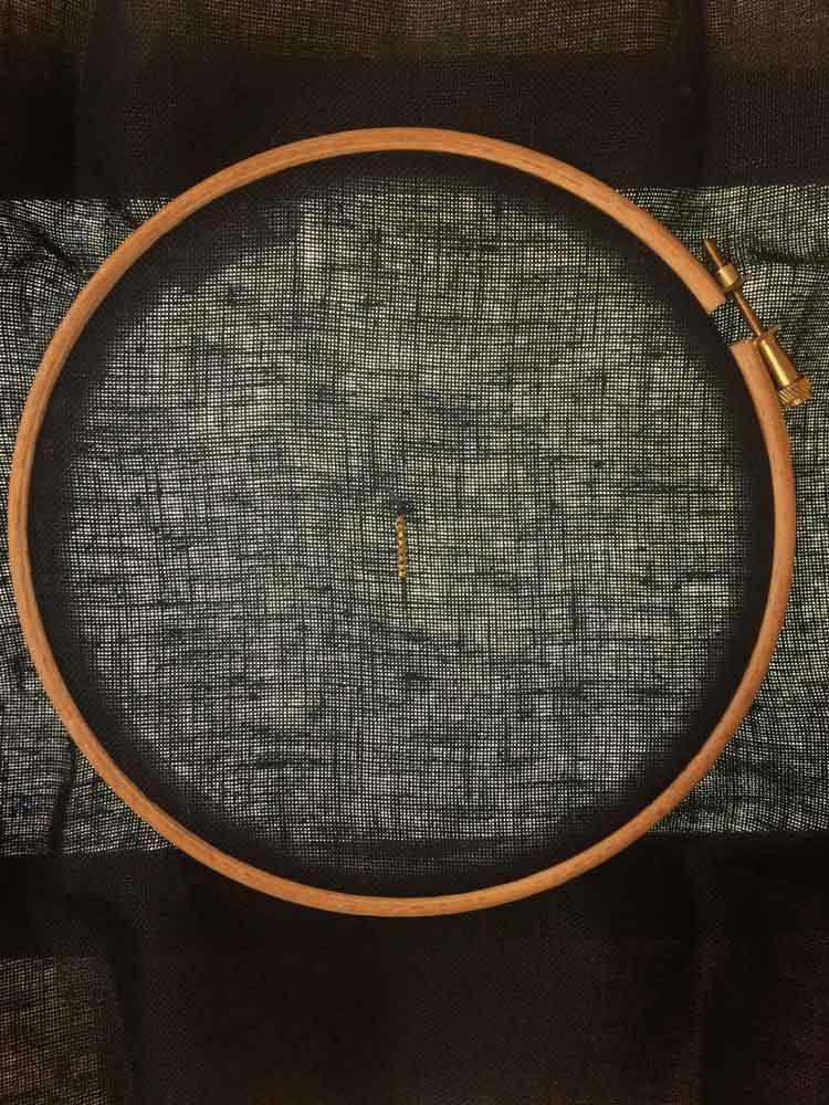how to stitch on black cross stitch fabric