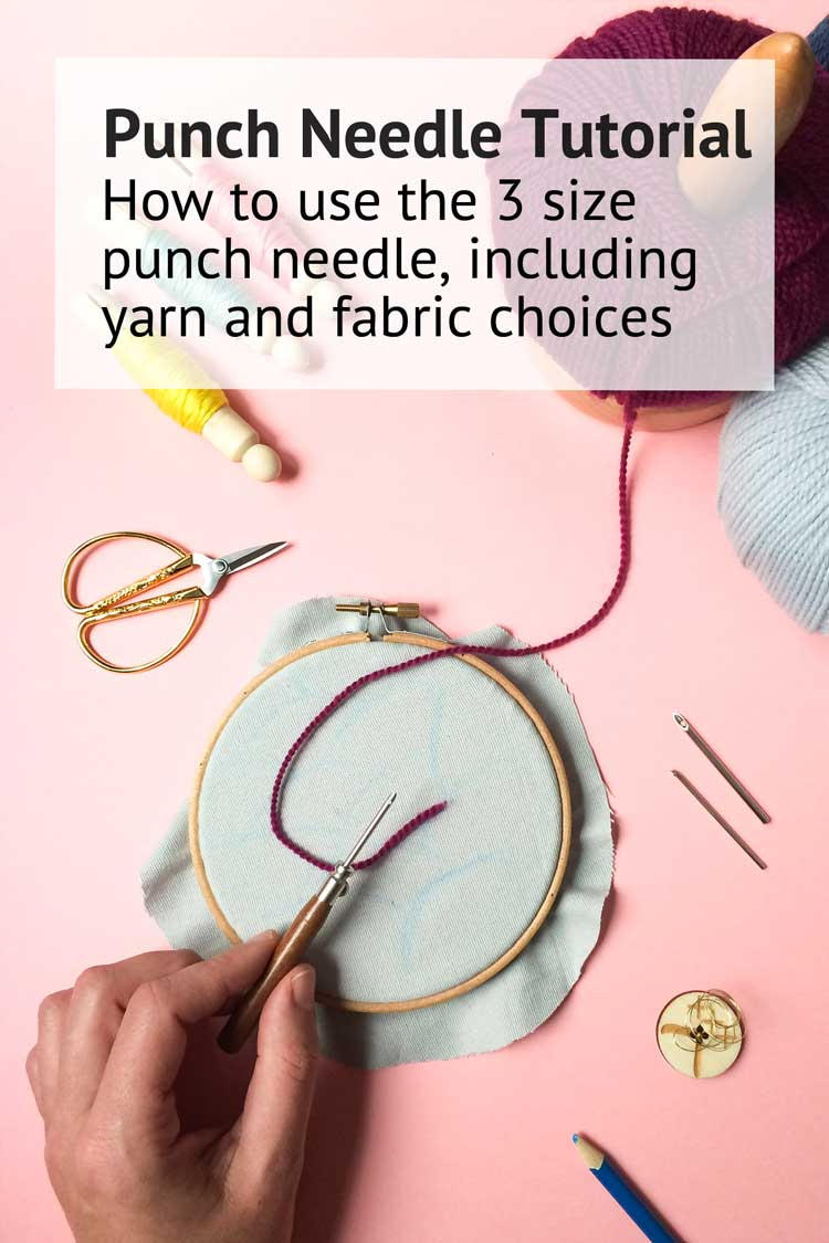 How to use the 3 size punch needle tutorial