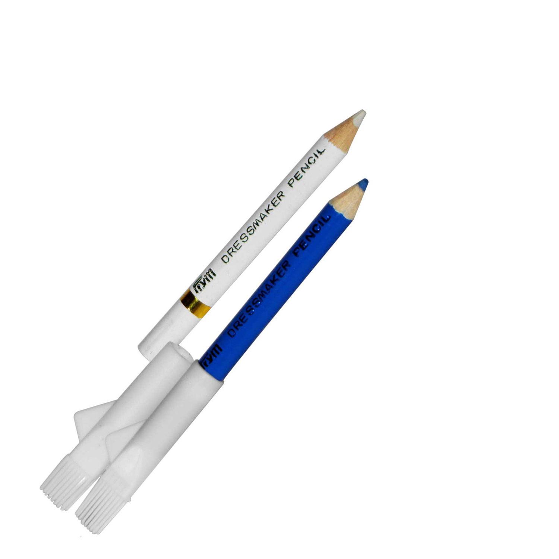 11101 Prym Chalk Pencil Set with brush water erasable