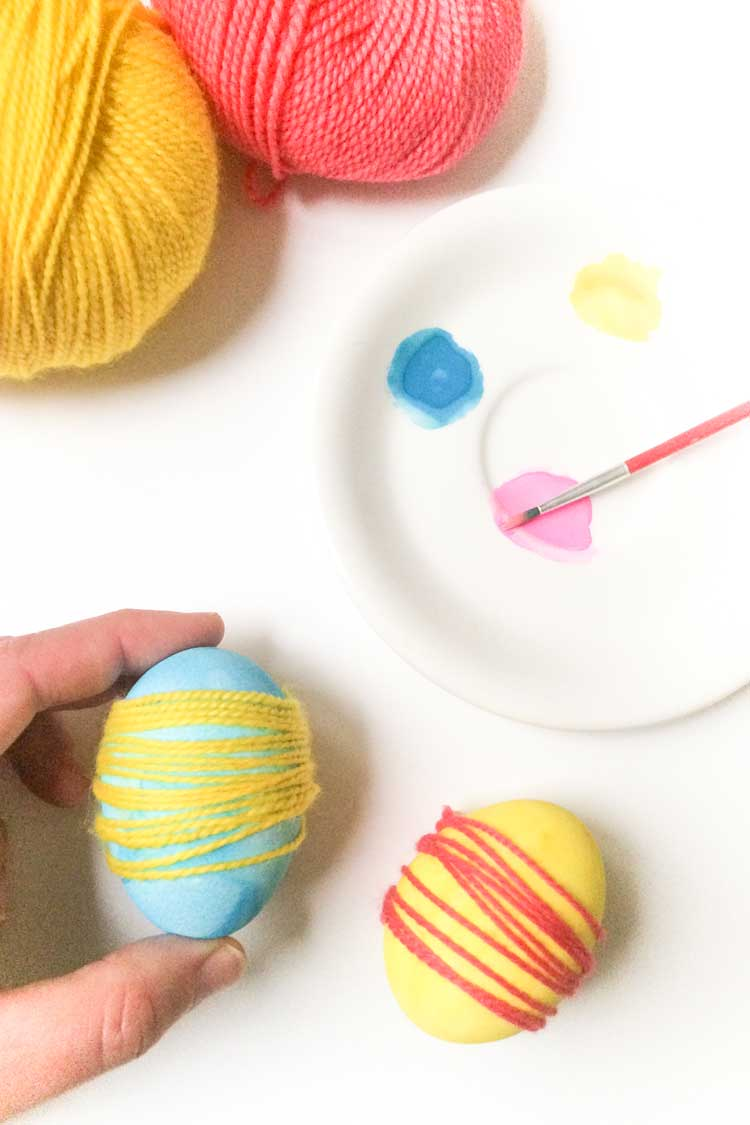 Diy easter egg craft project with kids
